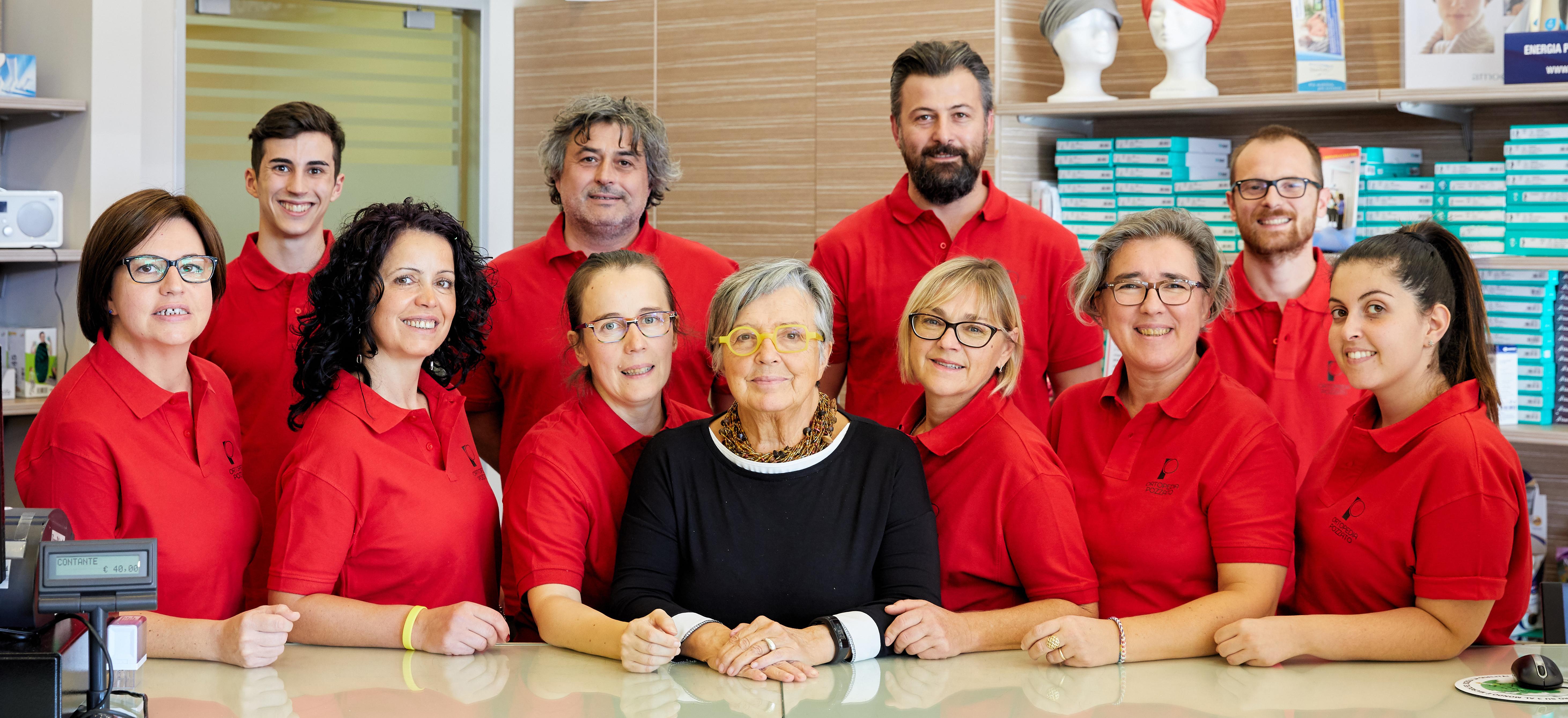 Lo staff di Ortopedia Pozzato a Cossato e Biella